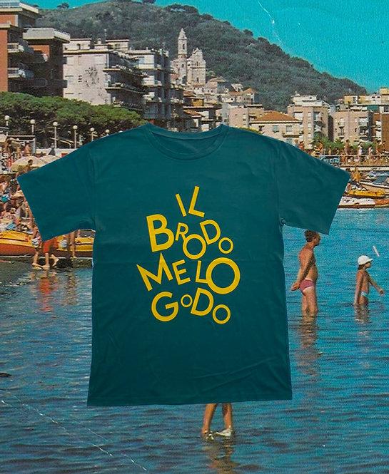 T-shirt IL  BRODO ME LO GODO  green + giallo