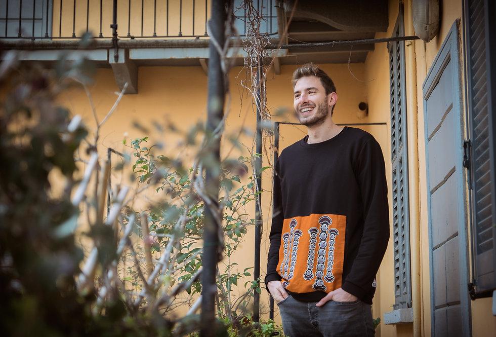 Clessidre Arancioni Felpa