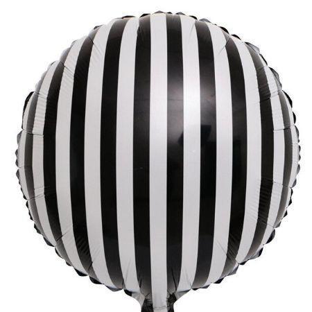 Round black & white stripes - 18 inch
