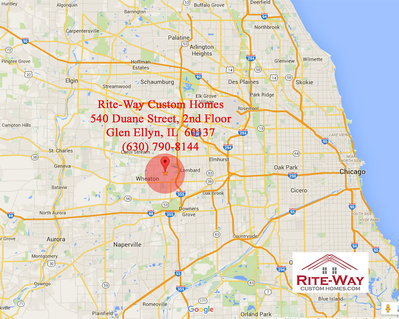 Directions to Rite-Way Custom Homes in Glen Ellyn, IL