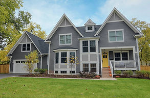 Wide lot custom home design in Glen Ellyn, IL