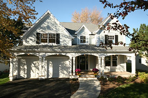New England style custom home in Wheaton, IL