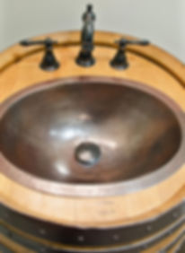 Oak barrel plumbing trim in Glen Ellyn and Wheaton, IL
