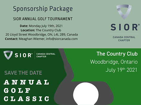 SIOR Golf Tournament Sponsorship package