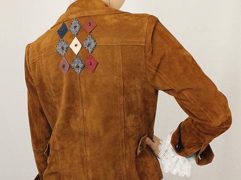 Rust Suede Argyle Jacket