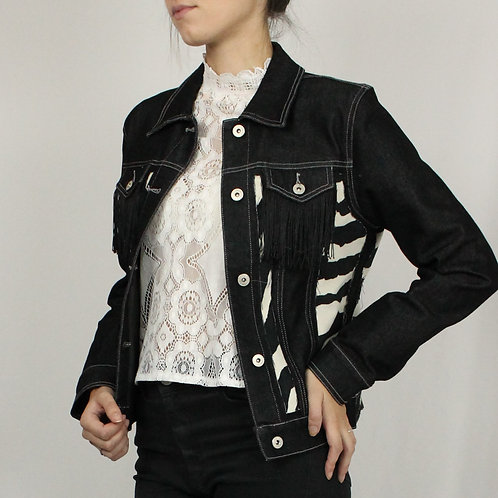 High-Collared Lace Blouse