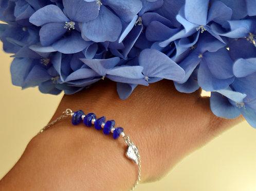 Cobalt 5-Stone Silver Bracelet