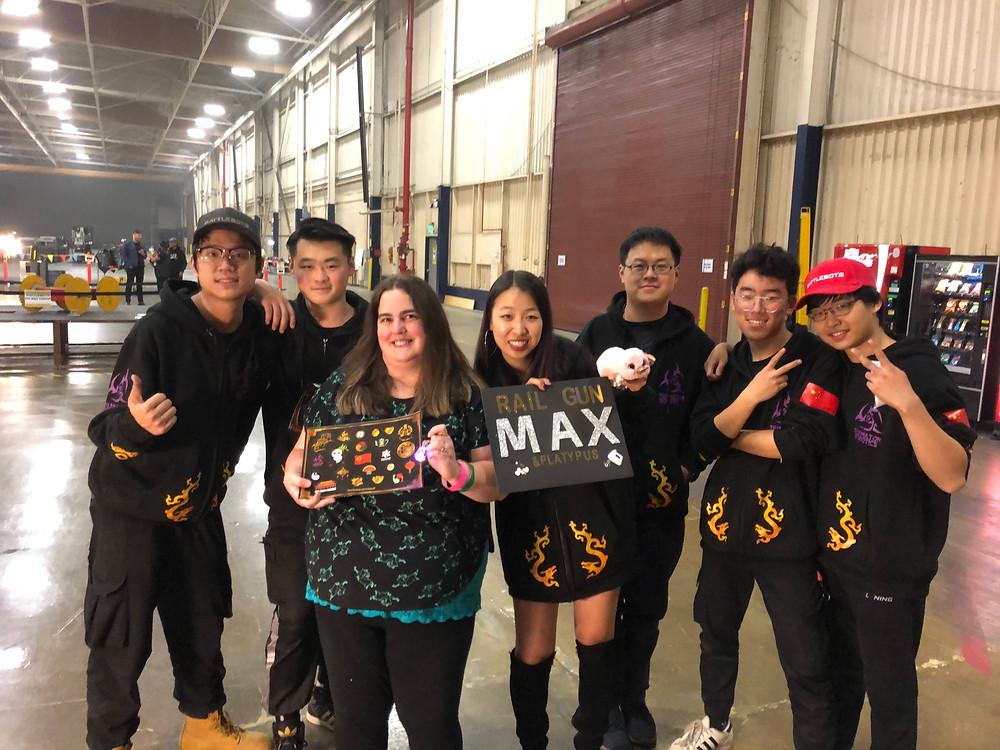 Mary meets BattleBots team Railgun Max