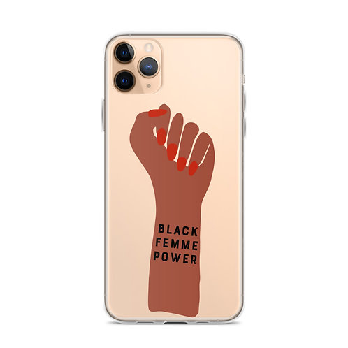 Black Femme Power iPhone Case