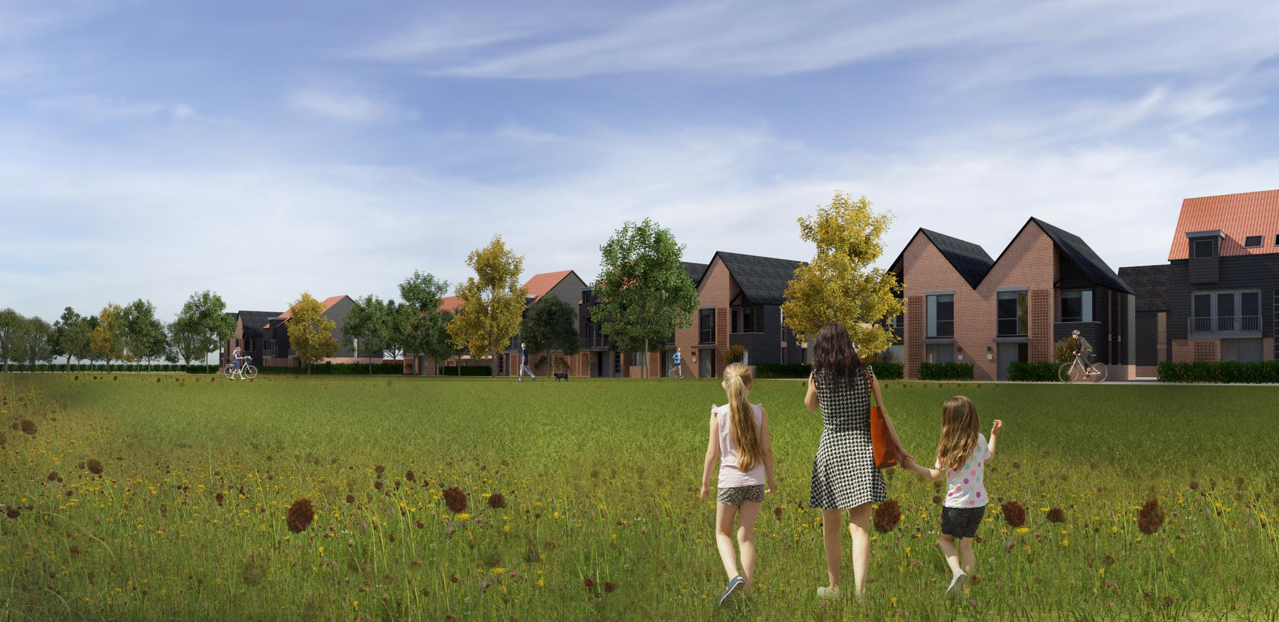 View of proposed development in Billericay