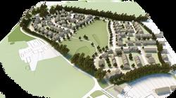 Aerial view of Billericay masterplan