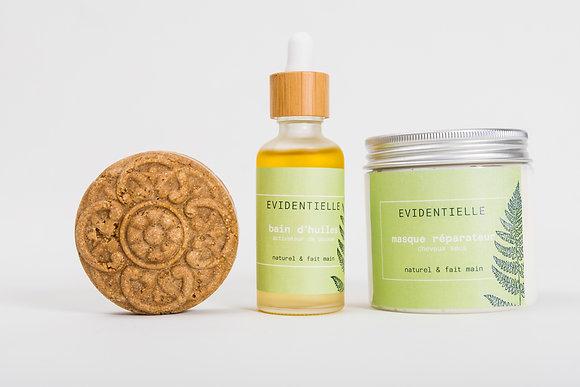 """Set """"chevelure soyeuse"""" avec shampoing revitalisant & tonifiant"""
