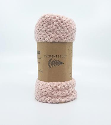 Serviette wrap microfibre - rose pâle
