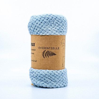 Serviette wrap microfibre - bleu/vert