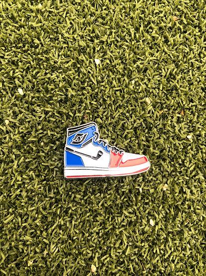 AJ1 Golf ball marker (blue white red)