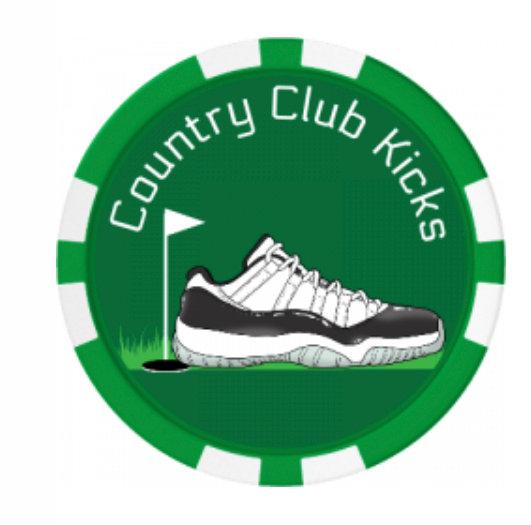Country Club Kicks Poker Chip Ball Marker (Green)