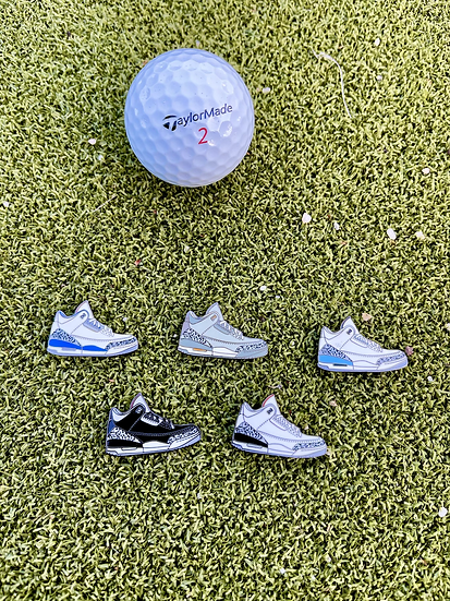 AJ3 Golf ball marker set of 5