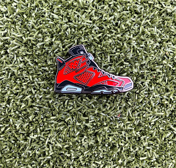 Country Club Kicks Ball Marker AJ6 Red