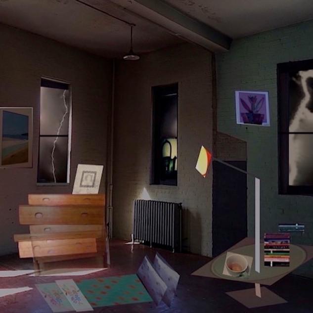 Room with Lightening & Lamp