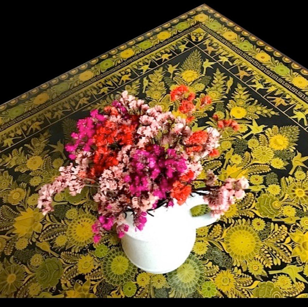 Flowers on Guerrero painted table