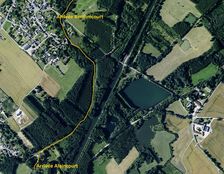 Parcours berthnicourt alaincourt aisne ASCRCK kayak