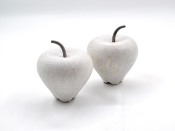 Marble Apple Large White