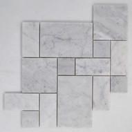 Carrara marble - Roman Pattern. Sheet size 305x305x10mm