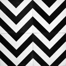 Encaustic - A666 - Blk and white zig zag
