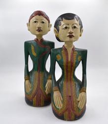 Statue Sitting Couple 450mmh