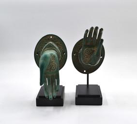 Pair of Brass hands - Green