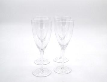 CRACKLE WINE (WHITE) GLASS GLA027