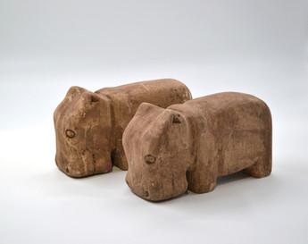 Stone Hippos