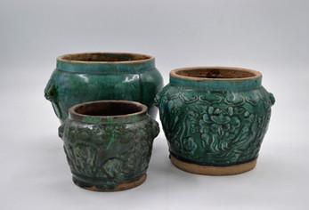 Glazed Green Jars
