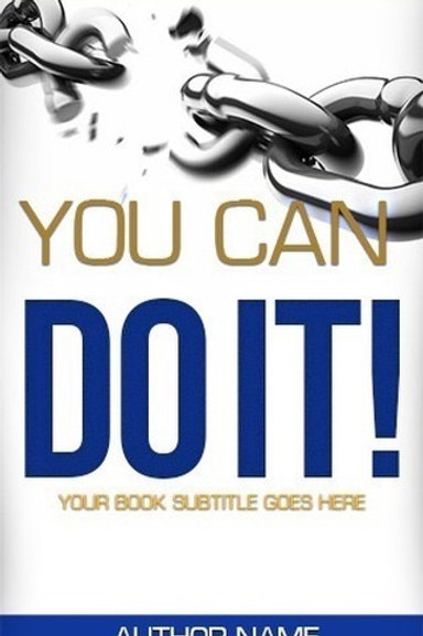 Premade Book Cover- You Can Do It