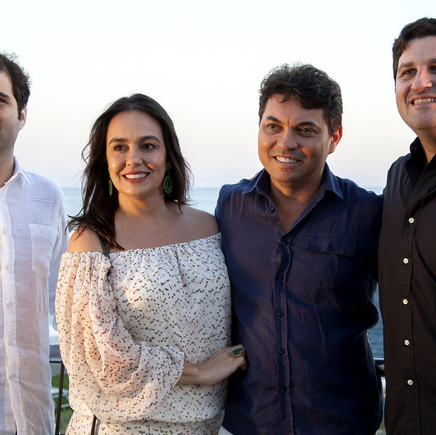Gustavo Orlean, Leandra Castro Gualberto, Pedro Ernesto Gualberto e Marcelo Orlean