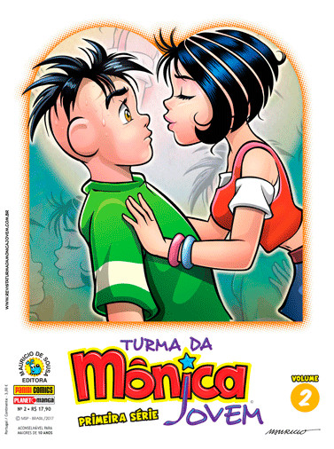 Primeiro beijo da Mônica e Cebola nos quadrinhos