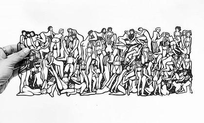 Exposição de papercutting da artista Ariádne inspira-se no prazer feminino