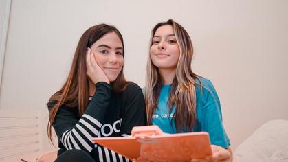 Juju Franco e Nina Baiocchi protagonizam websérie no TikTok