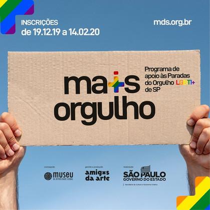 Programa + Orgulho, de apoio a Paradas do Orgulho LGBT já está com inscrições abertas