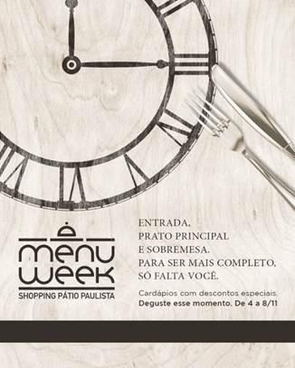 Shopping Pátio Paulista promove Festival Gastronômico até o dia 8 de novembro