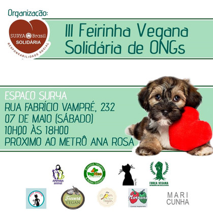 Surya Brasil realiza a III Feira Vegana Solidária de ONGs