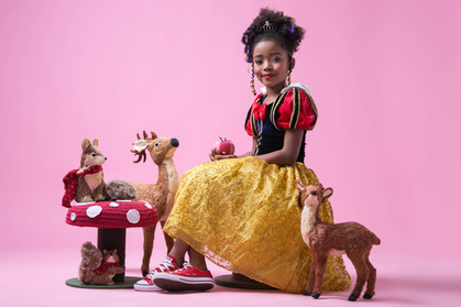 Alerta fofura: Modelos infantis negras posam de princesas da Disney