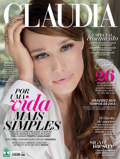 Capa da revista Claudia, Mariana Ximenez fala sobre fazer o papel de Tancinha