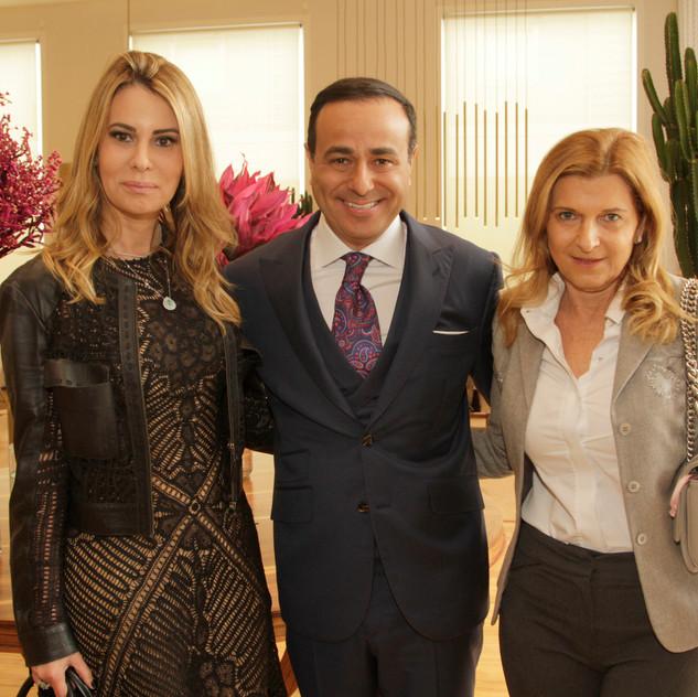 Carla Goes, Sandro Augusto e Rosana Saad