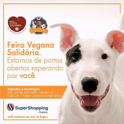 Acontece Feira Vegana Solidária no SuperShopping Osasco