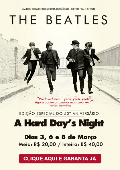 """A Hard Day´s Night"" entra em cartaz remasterizado"