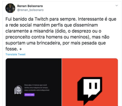 Twitch: conheça a rede que baniu Renan Bolsonaro (o 04), para sempre