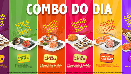 Gendai oferece descontos em pratos todos os dias até 30 de abril