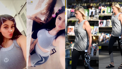 Kylie Jenner e Charlize Theron são flagradas com look fitness de marca brasileira