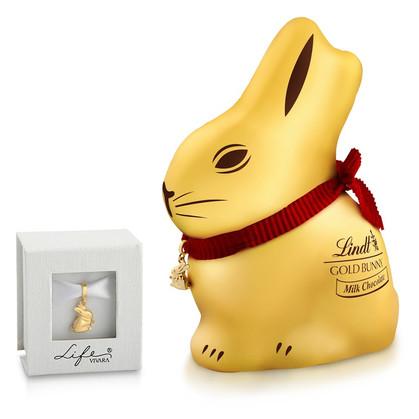 Gold Bunny da Lindt ganha edição especial em parceria com a Vivara